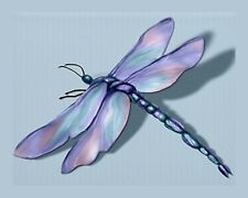 METAL MAGNET Jewel Tone Dragonfly Pink Turquoise Purple Insect MAGNET