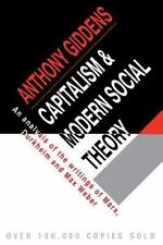 Capitalism and Modern Social Theory : An Analysis of the Writings of Marx,...