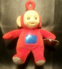1998 Eden Vintage Teletubbies Red Plush Stuffed Animal Po Flocked Face With Tag