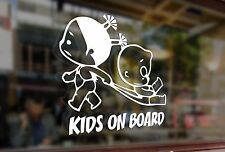 25cm Kids on board childrens baby Vinyl Stickers Decal Car Auto Glass Window