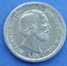 Nederland - The Netherlands 1869 stuiver, 5 cent, Willem 3 Silver KM# 91 Nice!