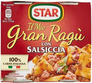 SUGO PRONTO STAR GRAN RAGU' SALSICCIA CARNE E POMODORO ITALIANI SUGHI PER PASTA