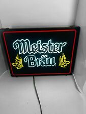 Meister Brau vintage Neon Lighted Beer Bar Sign Crated Shipping. (see Pictures)