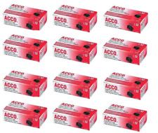 Acco 144 Count Binder Clips Small 12 Boxes 12 Clips Per Box
