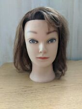 Cosmetology Mannequin Training Head Human Hair Medium Length
