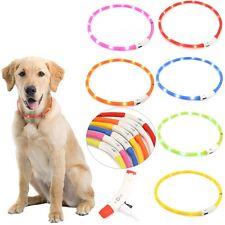LED Hunde Leuchthalsband Leuchtschlauch USB Sicherheitshalsband Halsband 7 Farbe