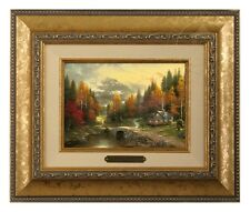 Thomas Kinkade The Valley of Peace 5 x 7 Brushwork (Gold Frame)