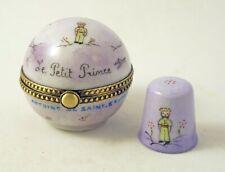 Little Prince French Limoges Box Exupery World Globe & Thimble Le Petit Prince