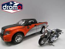 1/27 BURAGO/MAISTO - FORD F-150 STX +  FLSTF FAT BOY 2000 - H. - D. CUSTOM