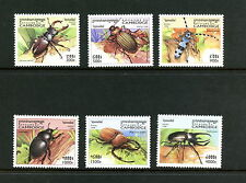 H482  Cambodia 1998    beetles insects  6v.   MNH