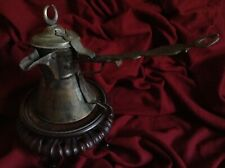 Antique Ottoman Coffee Dallah Turkish Drink Tea Kettle Pot Bronze Brass Islamic