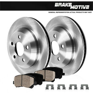 For Mercedes Benz S430 S500 CL500 W215 Rear Brake Rotors And Ceramic Pads
