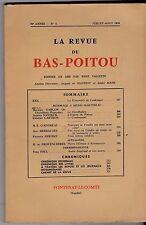 LA REVUE DU BAS POITOU  70e ANNEE N° 4   JUILLET AOUT 1959