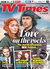 UK TV Times Magazine July 2019: AIDAN TURNER Poldark BROS Matt / Luke Goss