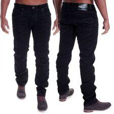 Indigo -/dark-washed L30 Herren-Jeans mit mittlerer Bundhöhe und regular Länge
