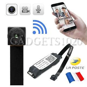 Mini Caméra Espion Sans Fil Wifi IP Pinhole Vidéo 1080P Cam DV DVR FR