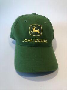 John Deere Green Hat Adjustable Strapback Cary Francis Group Cap 100% Cotton