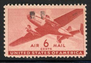 SCOTT CM1 1944 6 CENT TRANSPORT PLANE AIRMAIL ISSUE WITH R.F OVERPRINT MNH OG VF