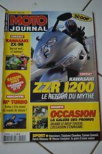 MOTO JOURNAL N°1510 ZZR 1200 KAWASAKI ZX-9R NICOLAS BRISSET SYLVAIN GUINTOLI 02