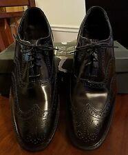 Nunn Bush Men's Shoes Cambridge Black Leather Wing Tip Oxford Lace Up sz 12