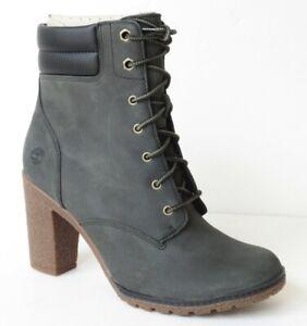 Timberland Women's Tillston High Heel Dark Green / Gray Boots  A1QJE  Size 9.5