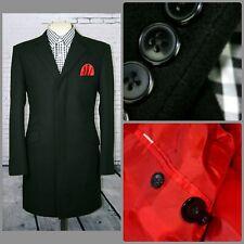 Mod Overcoat Black 3/4 Length Coat Ticket Pocket 1960's, Ska,Skinhead Slim Fit