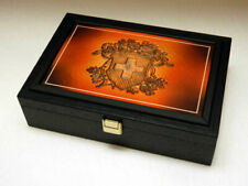 Massivholzkassette 80 X 10/20 Franken Vreneli Gold