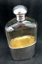Victorian Cut Glass Silver Hip Flask | Hallmarked Birmingham 1897 | W.H. Weston