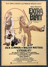Extrablatt 1974 - Walter Matthau - Billy Wilder - A1 Film Poster Plakat (M-7477+