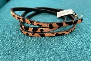 J. Crew Girls Crewcuts Leather Leopard Print Belt BNWT