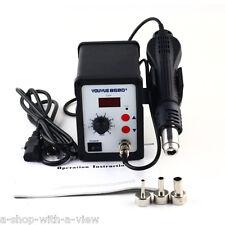 Hot Air Gun Rework Station SMD Solder Soldering Digital 3 Nozzles New Heat Gun