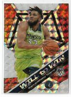 2019-20 Panini Mosaic basketball silver mosaic will to win Karl-Anthony Towns #2