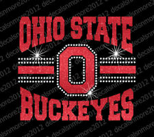 Ohio State Buckeyes - Bling - Iron-on Rhinestone Transfer