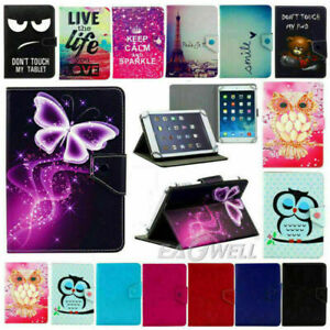 """For Amazon Fire HD 8 8"""" Tablet 2018 2017 2016 Universal Leather Stand Case Cover"""