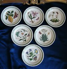 6 assiettes The Botanic Garden circa 1818 Portmeirion England diamètre 18,8 cm