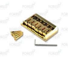 BN-201, Hardtail string-thru bridge for Telecaster ® Stratocaster ® guitar, gold