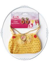 Girls Child Princess Belle Beauty Bag and Jewellery Fancy Dress Disney Accessory