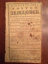 Very RARE 1774 Boston Almanac Bickerstaff Pre-Revolutionary War Colonial America
