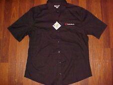 Radio Shack Logo Edwards Employee Black Button Embroidered Teflon Shirt S New