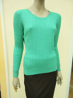 H&M - Womens Jade Green Fine Cable Knit Long Sleeved Jumper - size M