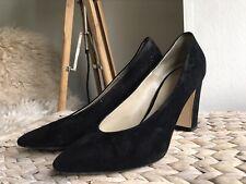 Hobbs black genuine suede leather heels shoes uk 7