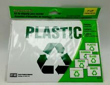 Recycle Sign Label Kit Self-adhesive Vinyl 6pc Make Sure Recycling is a Priority