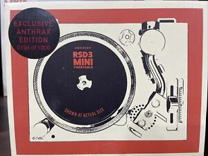 """Crosley RSD3 Mini 3"""" Record Turntable Exclusive Anthrax Edition 194/1000 New"""