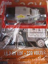 Auto plus collection CITROEN Canard 2cv la CV EDF 220 V 1973 1:43 + fascicule