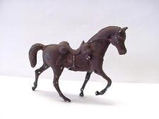 "Trotting 2 5/8"" Tall Plastic Dark Brown Horse Figure Toy"