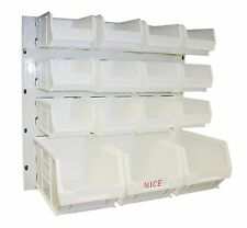 NEW PLASTIC PARTS STORAGE BIN KIT BK73 WHITE - 12xTC2 & 3xTC3 & LOUVRE PANEL