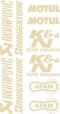 x10 belly pan Sponsor logo Stickers Akraprovic Bridgestone Motul Afam Gold 07