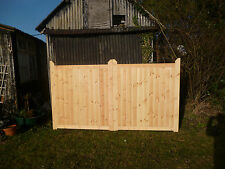 Bespoke Wooden Garden Driveway Entrance Gates Pair 6ft Hx7ft W. NO GAP