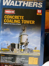 Walthers Cornerstone HO #3042 Concrete Coaling Tower -- Tower & Shed (kit form)