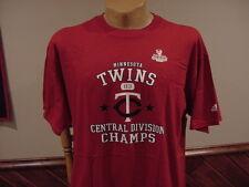 SWEET Minnesota Twins 2003 Div Champs Men's Sz Lg Adidas Red T-Shirt, NEW&NICE!
